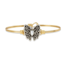 Load image into Gallery viewer, Luca+ Danni Butterfly Bangle Bracelet - Petite/Brass Tone