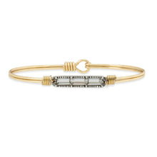 Load image into Gallery viewer, Luca+ Danni Mini Hudson Bangle Bracelet in Crystal - Regular/Brass Tone