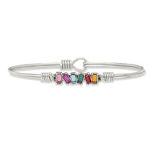 Load image into Gallery viewer, Luca+ Danni Mini Hudson Bangle Bracelet in Ombre - Petite/Silver Tone
