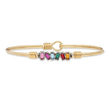 Load image into Gallery viewer, Luca+ Danni Mini Hudson Bangle Bracelet in Ombre - Petite/Brass Tone