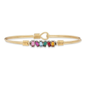 Luca+ Danni Mini Hudson Bangle Bracelet in Ombre - Petite/Brass Tone