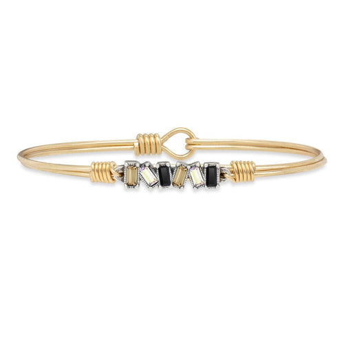 Luca+ Danni Mini Hudson Bangle Bracelet in Luxe Ombre - Petite/Brass Tone