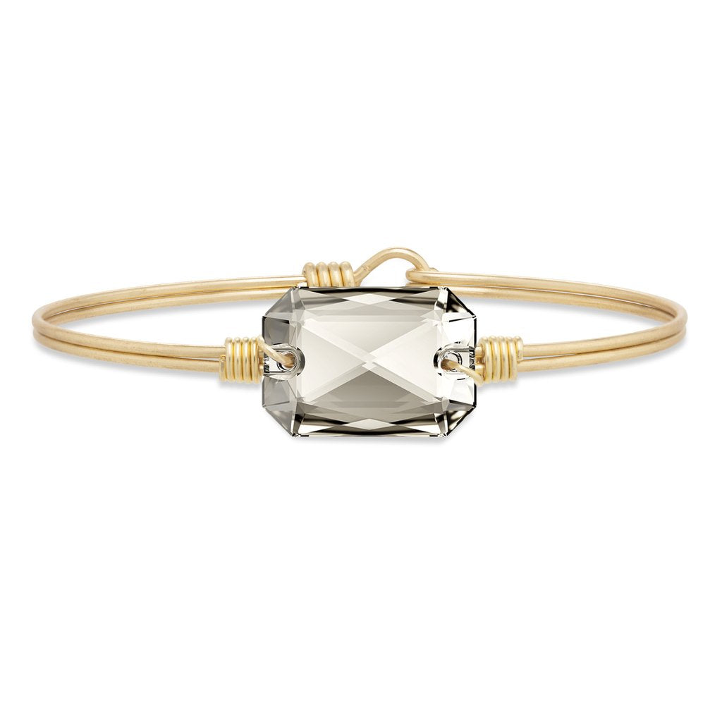 Luca+ Danni Dylan Bangle Bracelet in Silver Shade - Petite/Brass Tone