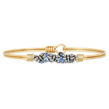 Load image into Gallery viewer, Luca+ Danni Dragonfly Medley Bangle Bracelet - Petite/Brass Tone