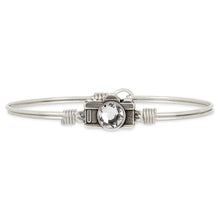 Load image into Gallery viewer, Luca+ Danni Camera Bangle Bracelet - Petite/Silver Tone