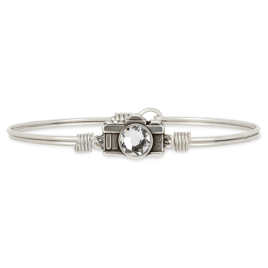 Luca+ Danni Camera Bangle Bracelet - Petite/Silver Tone