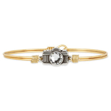 Load image into Gallery viewer, Luca+ Danni Camera Bangle Bracelet - Petite/Brass Tone