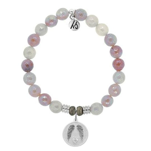 T. Jazelle Sunstone Stone Bracelet with Guardian Sterling Silver Charm