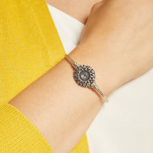 Load image into Gallery viewer, Luca+ Danni Sunflower Bangle Bracelet - Petite/Silver Tone