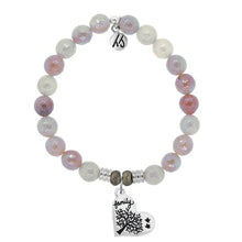 Load image into Gallery viewer, T. Jazelle Sunstone Stone Bracelet with Family Tree Sterling Silver Charm