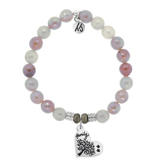 T. Jazelle Sunstone Stone Bracelet with Family Tree Sterling Silver Charm