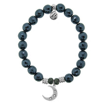 Load image into Gallery viewer, T. Jazelle Navy Hematite Stone Bracelet with Friendship Stars Sterling Silver Charm