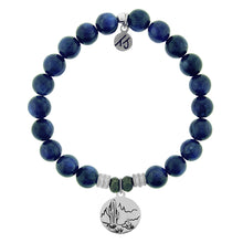 Load image into Gallery viewer, T. Jazelle Kyanite Stone Bracelet with Cactus Sterling Silver Charm