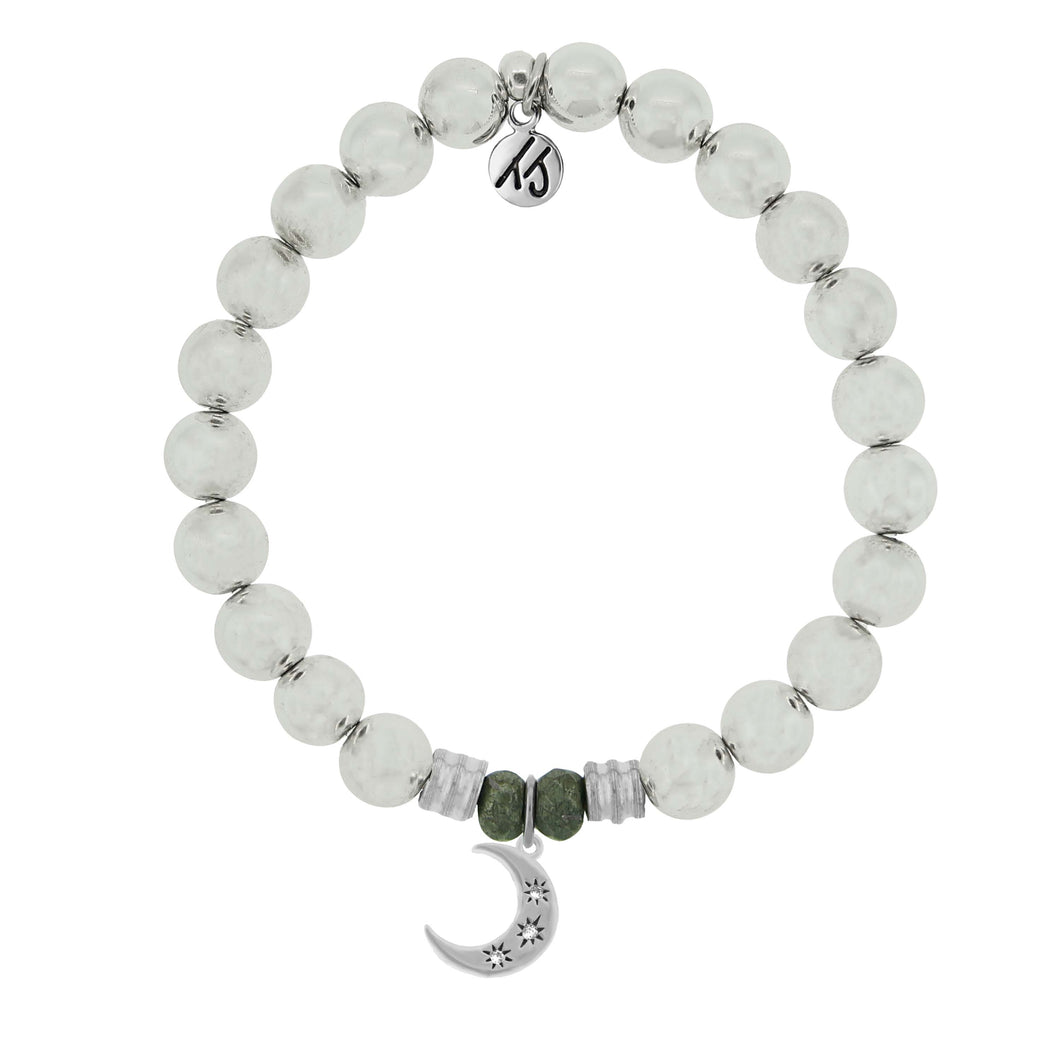 T. Jazelle Hematite Stone Bracelet with Friendship Stars Sterling Silver Charm