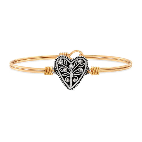 Luca+ Danni Tree of Life Bangle Bracelet - Petite/Brass Tone