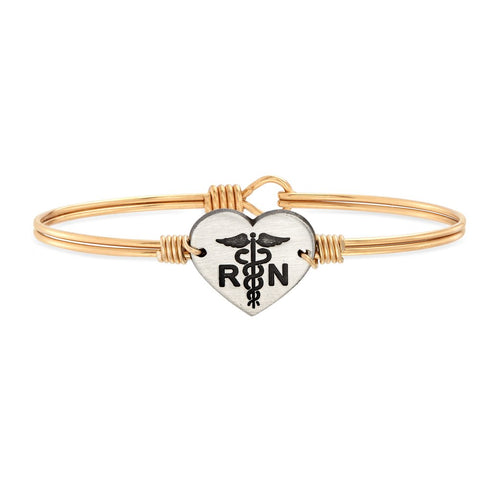 Luca+ Danni Nurse Bangle Bracelet - Petite/Brass Tone