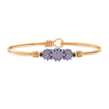 Load image into Gallery viewer, Luca+ Danni Cancer Awareness Daisy Bangle Bracelet - Petite/Brass Tone