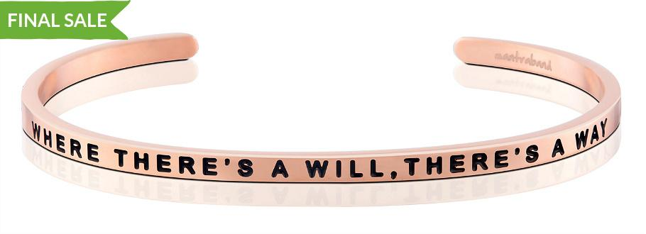 Mantraband Bracelet Where There's a Will, There's a Way - Rose Gold