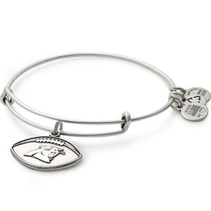 Alex and Ani Carolina Panthers Football Charm Bangle