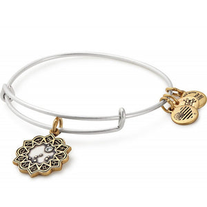 Alex and Ani Capricorn Two Tone Charm Bangle
