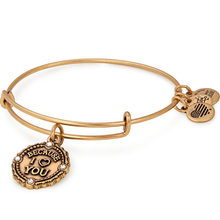 Load image into Gallery viewer, Because I Love You Charm Bangle Gold