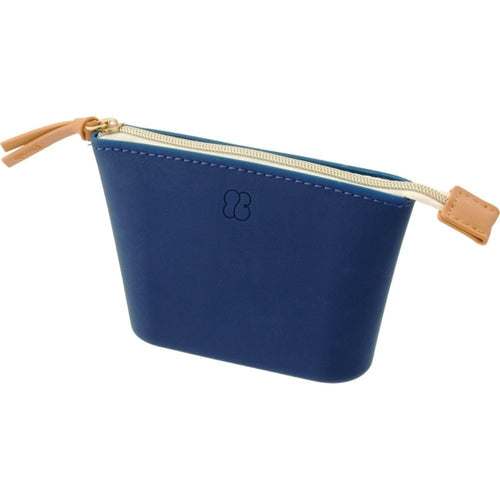 Lihit Lab Bloomin Soft Silicone Zippered Pouch Small - Navy