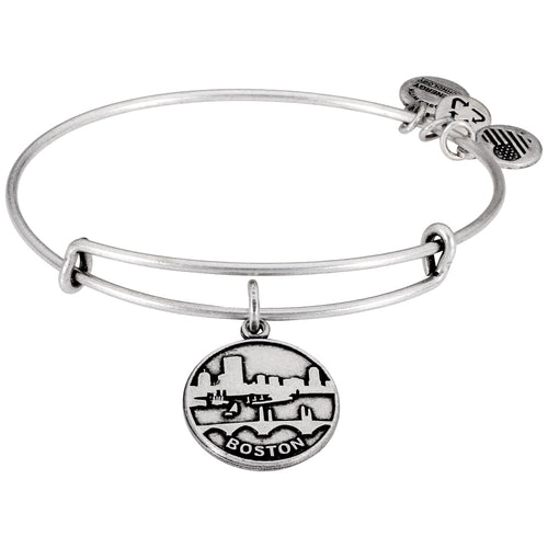 Alex and Ani Saint Boston II Charm Bangle Silver