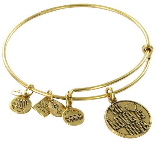 Alex and Ani My Love is Alive Charm Bangle