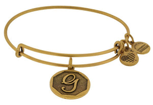 Alex and Ani Initial G Bangle Gold