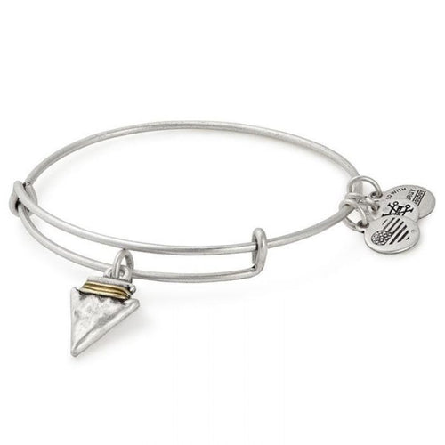 Alex and Ani Arrowhead Charm Bangle