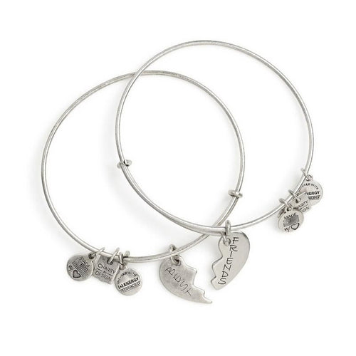 Alex and Ani Best Friends Set of 2 Charm Bangle