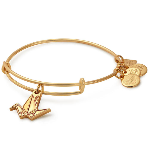 Alex and Ani Paper Crane Charm Bangle