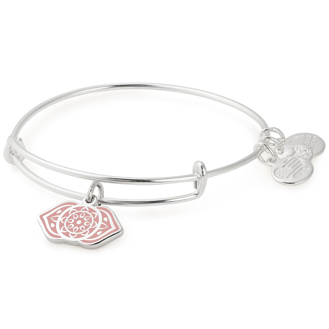 Alex and Ani Third Eye Chakra Charm Bangle Shiny Silver