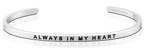 Mantraband Bracelet Always In My Heart - Silver