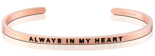 Mantraband Bracelet Always In My Heart - Rose Gold