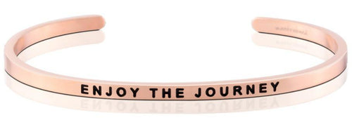 Mantraband Bracelet Enjoy The Journey - Rose Gold