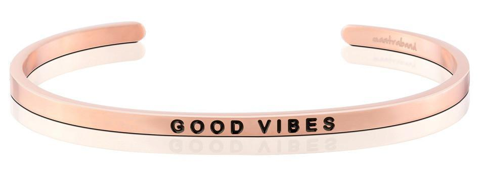 Mantraband Bracelet Good Vibes - Rose Gold