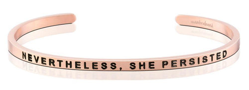 Mantraband Bracelet Nevetheless, She Persisted - Rose Gold