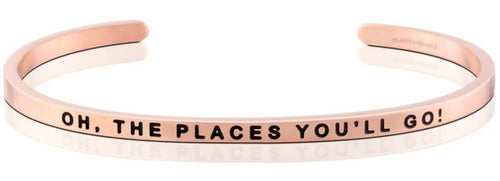 Mantraband Bracelet Oh, The Places You'll Go - Rose Gold