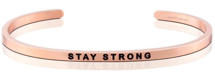 Mantraband Bracelet Stay Strong - Rose Gold