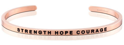 Mantraband Bracelet Strength Hope Courage - Rose Gold