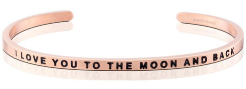 Mantraband Bracelet To The Moon And Back - Rose Gold