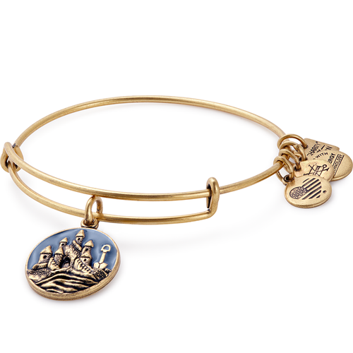Alex and Ani Sand Castle Charm Bangle