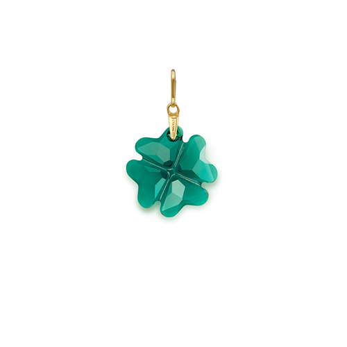 Alex and Ani Emerald Four Leaf Clover Pendant Charm