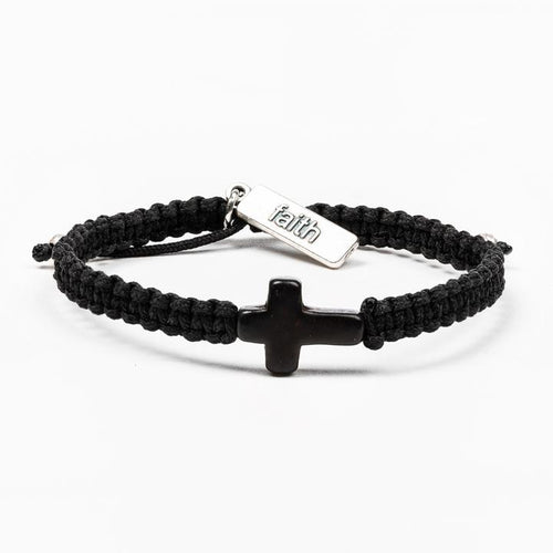 My Saint My Hero Faith Confirmed Bracelet Black