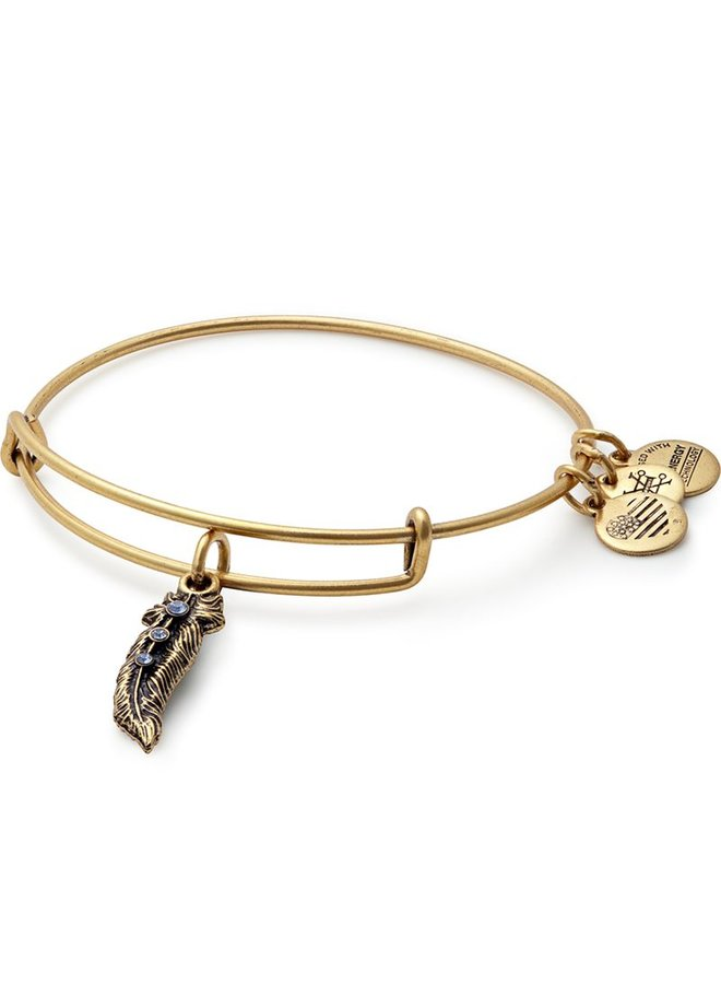 Alex and Ani Feather Charm Bangle