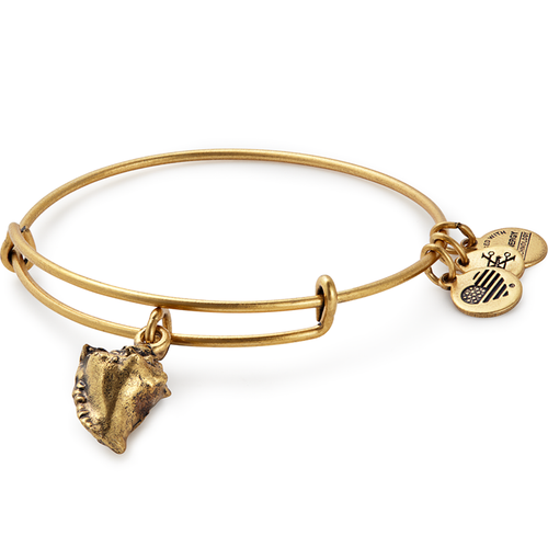 Alex and Ani Conch Shell Charm Bangle