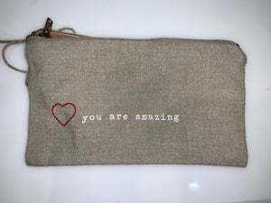 You Are Amazing Pazitive Embroidered Pouch