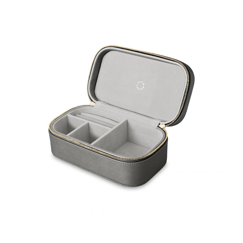 Katie Loxton Travel Jewelry Box - All That Glitters Metallic Charcoal