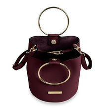 Load image into Gallery viewer, Katie Loxton Suki Mini Bucket Bag - Burgundy